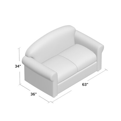 Possibilities Loveseat Upholstery: Classic Bleach White