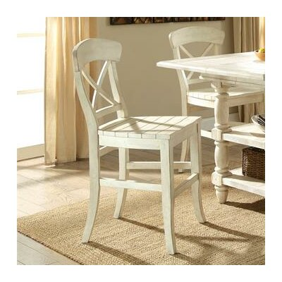Wooten X-Back 24 Bar Stool (Set of 2) Color: Farmhouse White