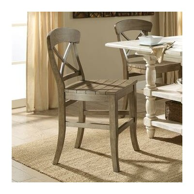 Wooten X-Back 24 Bar Stool (Set of 2) Color: Weathered Driftwood