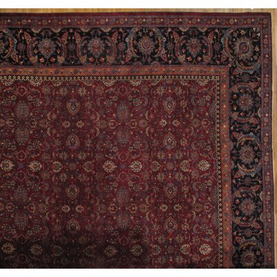 Persian Saver Hand-Knotted Wool Red Area Rug