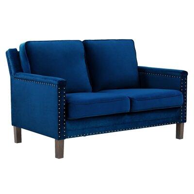 Milstead Loveseat Upholstery: Sapphire