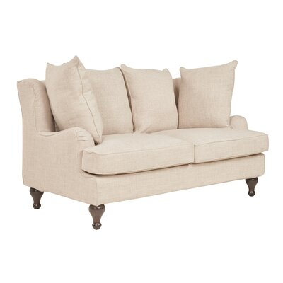 Tomlinson Loveseat Upholstery: Flax
