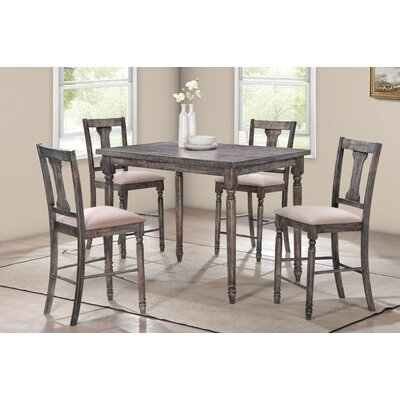 Vanzandt 5 Piece Counter Height Dining Set
