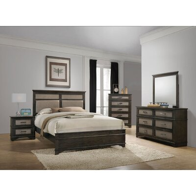 Hunter Upholstered Panel Bed Size: Queen