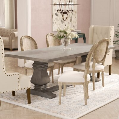 Gendreau Hardwood Dining Table Color: Dry Cement, Size: 90