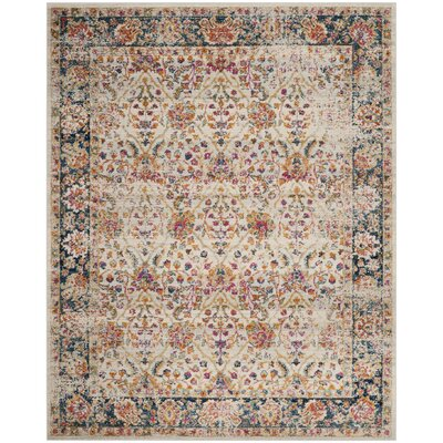Grieve Cream/Navy Area Rug Rug Size: Rectangle 8 x 10