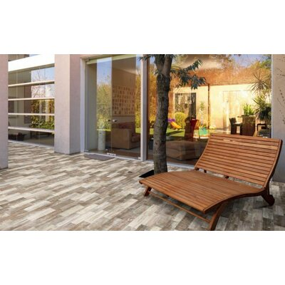 Abitare Chalet 4 x 16 Porcelain Field Tile in Brown