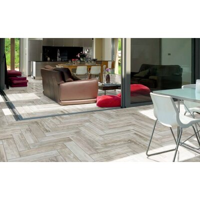 Abitare Maso 4 x 16 Porcelain Field Tile in Gray