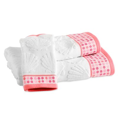 Holthaus Seaweed Border Bath Towel Color: Coral