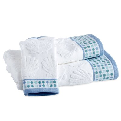 Holthaus Seaweed Border Bath Towel Color: Blue