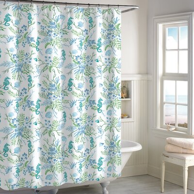 Holthaus Seaweed Shower Curtain Color: Blue