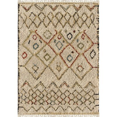 Darmstadt Ivory Area Rug Rug Size: Rectangle 53 x 76