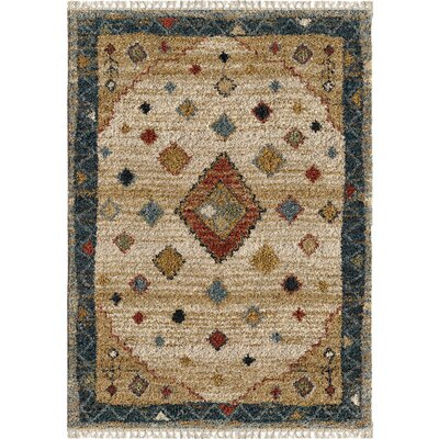 Danton Nomadic Ivory Area Rug Rug Size: Rectangle 53 x 76