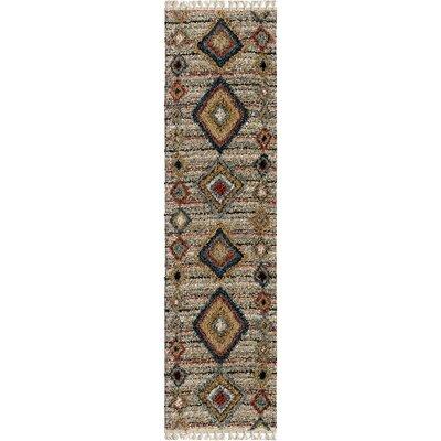 Danielian Tribal Door Off White Area Rug Rug Size: Runner 23 x 8