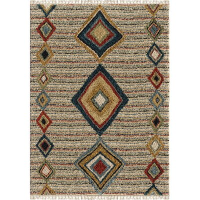 Danielian Tribal Door Off White Area Rug Rug Size: Rectangle 710 x 1010