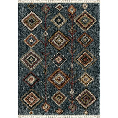 Daniel Indigo Area Rug Rug Size: Rectangle 53 x 76