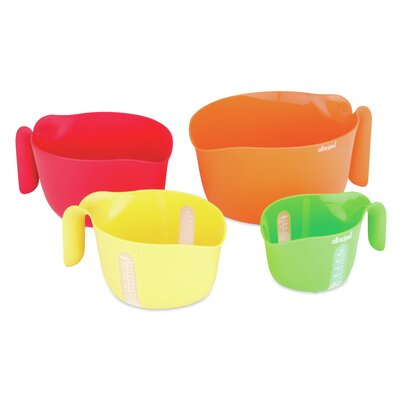 Nested Prep Essentials 4 Piece Plastic Measuring Cup Set 50235-9984-MIX