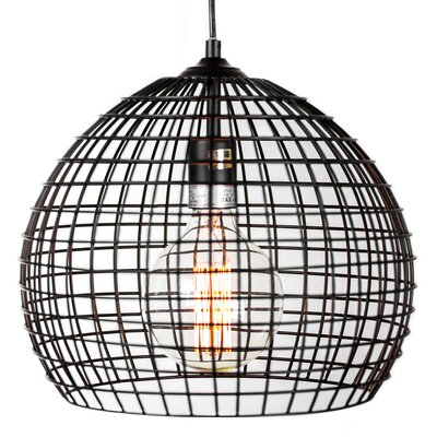 Hambrick Industrial Style Caged Metal Globe Pendant
