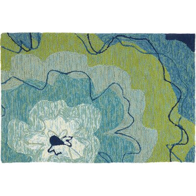 Eastlake Blossom Hand-Woven Blue Indoor/Outdoor Area Rug Rug Size: Rectangle 11 x 210