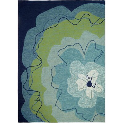 Eastlake Blossom Hand-Woven Blue Indoor/Outdoor Area Rug Rug Size: Rectangle 5 x 7