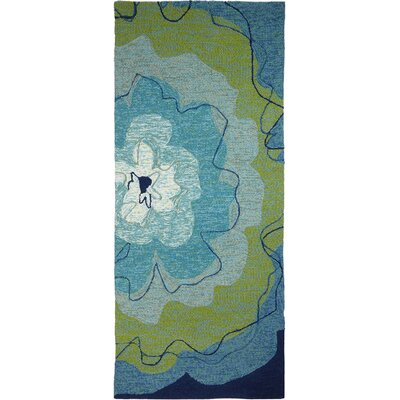 Eastlake Blossom Hand-Woven Blue Indoor/Outdoor Area Rug Rug Size: Runner 22 x 5