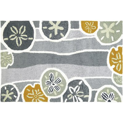 Zenas Neutral Hand-Woven Gray Indoor/Outdoor Area Rug Rug Size: Rectangle 18 x 28