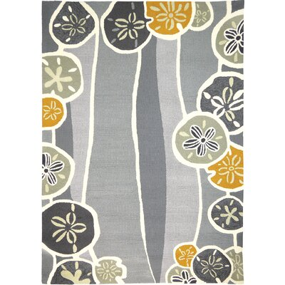 Zenas Neutral Hand-Woven Gray Indoor/Outdoor Area Rug Rug Size: Rectangle 3 x 5