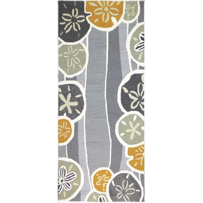 Zenas Neutral Hand-Woven Gray Indoor/Outdoor Area Rug Rug Size: Runner 22 x 5