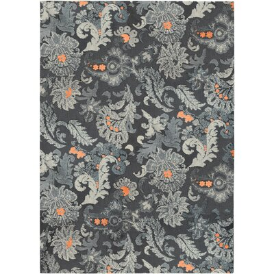 Hanshaw Flannel Floral Gray Area Rug Rug Size: Rectangle 8 x 10