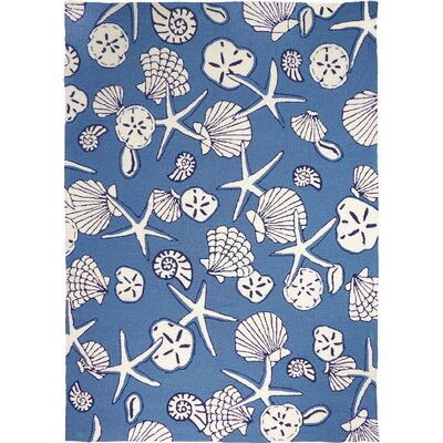Dant� Serenity at Sea Hand-Woven Blue Indoor/Outdoor Area Rug Rug Size: Rectangle 8 x 10