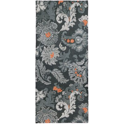 Hanshaw Flannel Floral Gray Area Rug Rug Size: Runner 22 x 5