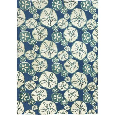 Nhung Sand Dollars Blue Area Rug Rug Size: Rectangle 8 x 10