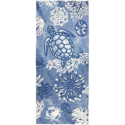 Tam Oceania Blue Area Rug Rug Size: Runner 22 x 5