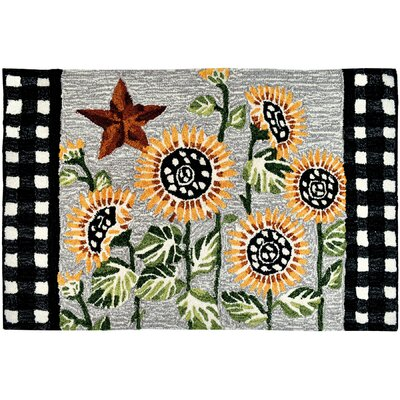 Heise Sunflowers and Checks Doormat