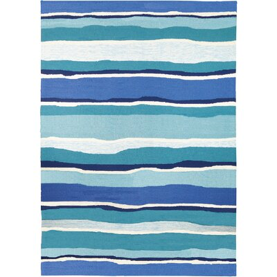 Dao Sea Breeze Blues Hand-Woven Blue Indoor/Outdoor Area Rug Rug Size: Rectangle 5 x 7