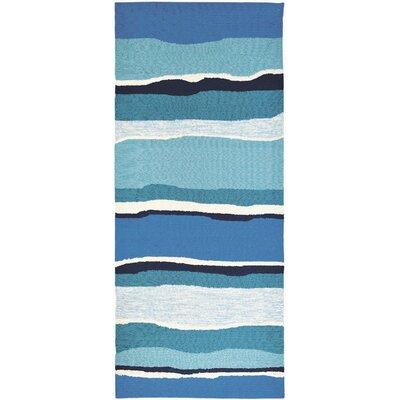 Dao Sea Breeze Blues Hand-Woven Blue Indoor/Outdoor Area Rug Rug Size: Runner 22 x 5