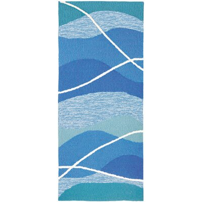 Quoc Tranquility Hand-Woven Blue Indoor/Outdoor Area Rug Rug Size: Runner 22 x 5