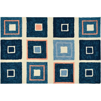 Easterly Beach Tiles Hand-Woven Blue Indoor/Outdoor Area Rug Rug Size: Rectangle 11 x 210