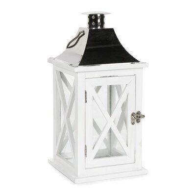 White Wooden Lantern C691A879887F48EDB29BBE65350E96B0
