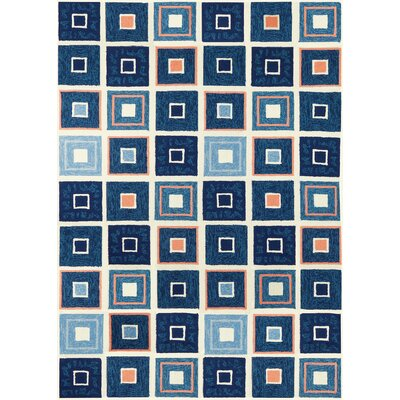 Easterly Beach Tiles Hand-Woven Blue Indoor/Outdoor Area Rug Rug Size: Rectangle 8 x 10