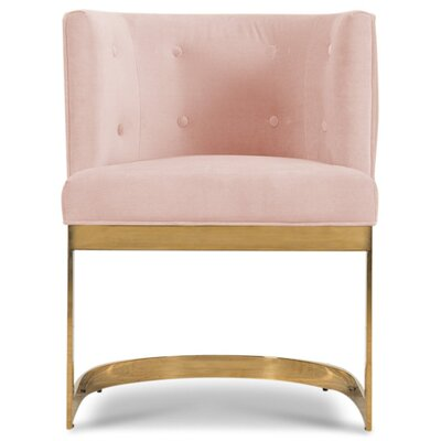 Ibiza Upholstered Dining Chair Upholstery Color: Blush Pink