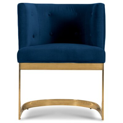 Ibiza Upholstered Dining Chair Upholstery Color: Indigo Blue