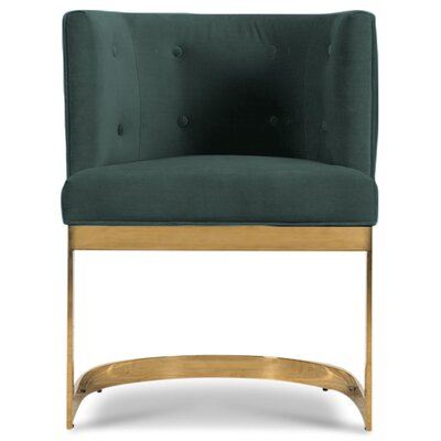 Ibiza Upholstered Dining Chair Upholstery Color: Hunter Green