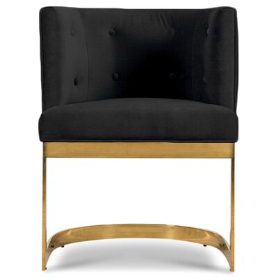 Ibiza Upholstered Dining Chair Upholstery Color: Black