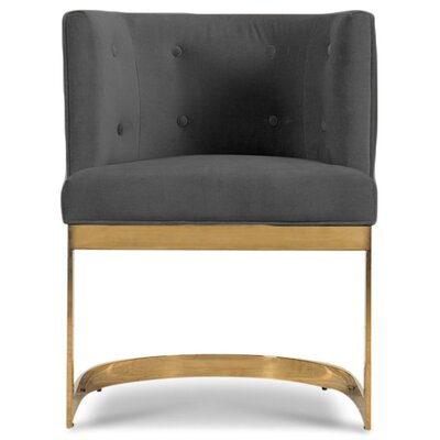 Ibiza Upholstered Dining Chair Upholstery Color: Dark Gray