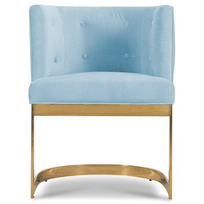 Ibiza Upholstered Dining Chair Upholstery Color: Capri Blue