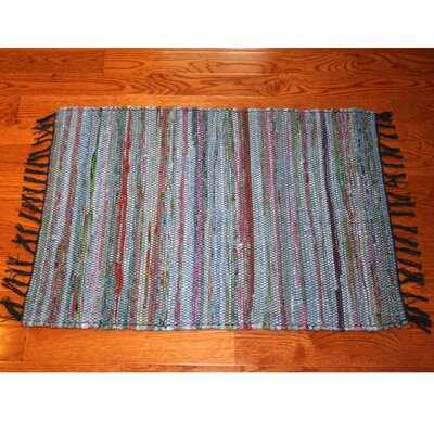One-of-a-Kind Linmore Over-Dyed Hand-Woven Navy Area Rug Rug Size: Rectangle 4 x 6
