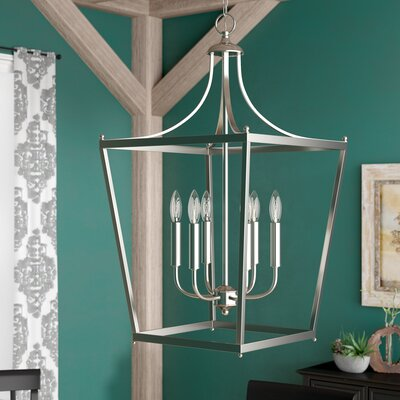 Brickyard 6-Light Foyer Pendant Finish: Polished Nickel