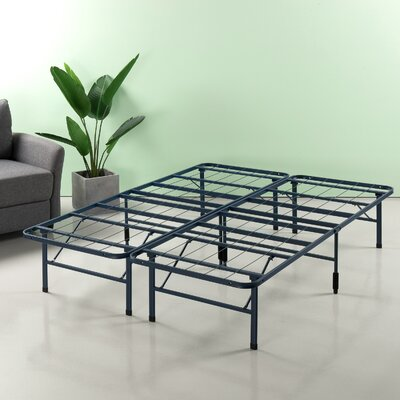 Helmuth Regular Bed Frame Size: 14 H x 60 W x 80 D, Color: Navy