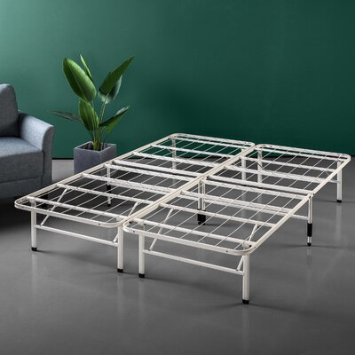 Helmuth Regular Bed Frame Size: 14 H x 60 W x 80 D, Color: Light Beige